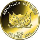 100 Francs CFA (Hanging Gardens of Babylon) – obverse