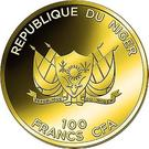 100 Francs CFA (Great Wall of China) – obverse