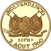 10 Francs CFA (Independence) – obverse