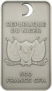 500 Francs CFA (The Name of Allah) – obverse