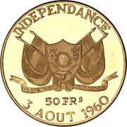 50 Francs CFA (Independence) – obverse
