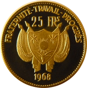 25 Francs CFA (Barbary Sheep) – obverse