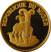 25 Francs CFA (Barbary Sheep) – reverse