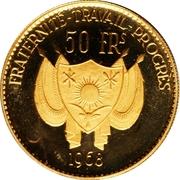 50 Francs CFA (Lion) – obverse