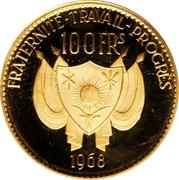 100 Francs CFA (Diori Hamani) – obverse