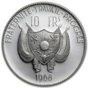 10 Francs CFA (Lion; Large type) – obverse