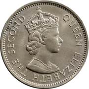 2 Shillings - Elizabeth II (1st portrait) – obverse