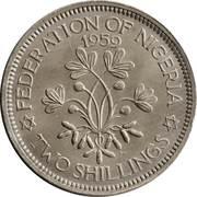 2 Shillings - Elizabeth II (1st portrait) – reverse