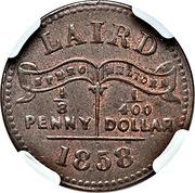 ⅛ Penny (Mac Gregor Laird) – obverse