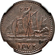 ⅛ Penny (Mac Gregor Laird) – reverse