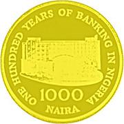 1000 Naira (100 Years - Banking In Nigeria) – reverse