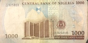 1000 Naira – reverse