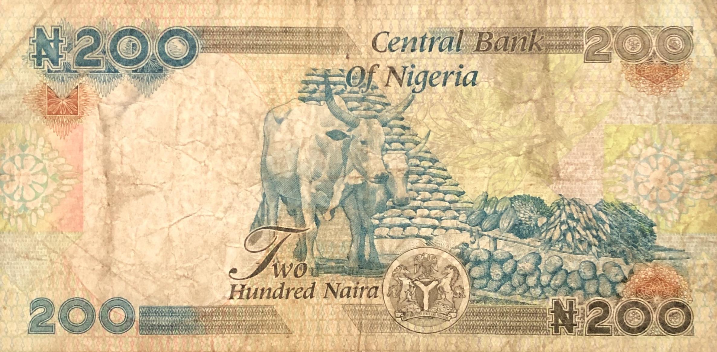 NIGERIA 200 NAIRA 2017 P 29 NEW DATE SIGN UNC