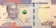 100 Naira ( Nigeria's 100 Years of Existence) – obverse