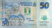 50 Naira (50th Anniversary of Independence) – obverse