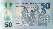 50 Naira (50th Anniversary of Independence) – reverse