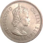 1 Shilling - Elizabeth II (1st portrait) – obverse