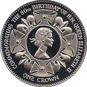 1 Crown - Elizabeth II (Queen Elizabeth II; Fantasy Issue) – reverse