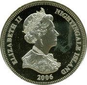 1 Crown - Elizabeth II (4th portrait; Nightingale Island; 80th Birthday) – obverse