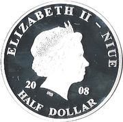 ½ Dollar - Elizabeth II (Pope John Paul II in Berlin) – obverse
