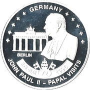 ½ Dollar - Elizabeth II (Pope John Paul II in Berlin) – reverse
