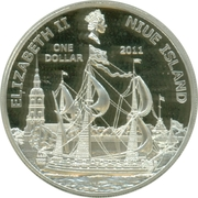 1 Dollar - Elizabeth II (Peter The Great) -  obverse