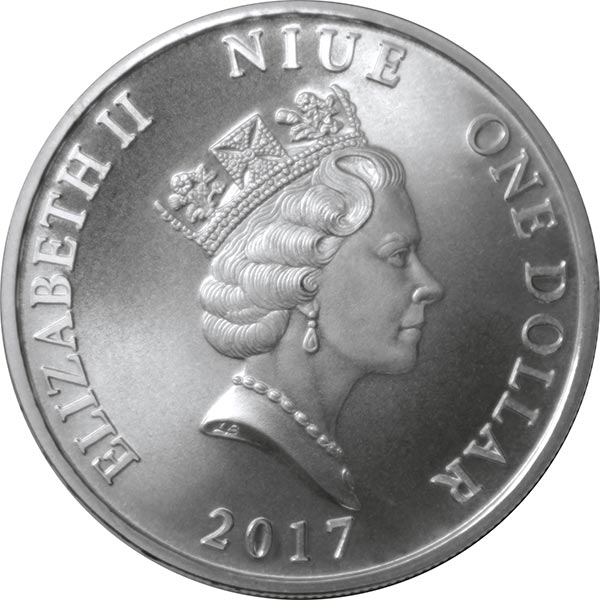 1 Dollar Elizabeth Ii Guardian Angel Niue Numista