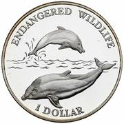 1 Dollar - Elizabeth II (Dolphins) – reverse