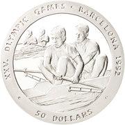 50 Dollars - Elizabeth II (Rowing) -  reverse