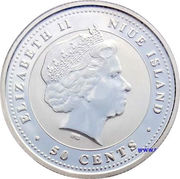 50 Cents - Elizabeth II (Year of the Rooster) – obverse