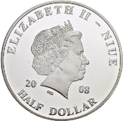 ½ Dollar - Elizabeth II (Pope John Paul II in Tunisia) – obverse