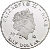 ½ Dollar - Elizabeth II (Pope John Paul II in Tunisia) – obverse