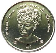 1 Dollar - Elizabeth II (Diana-Princess of Wales) – reverse