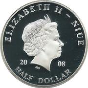 ½ Dollar - Elizabeth II (Pope John Paul II in Slovenia) – obverse