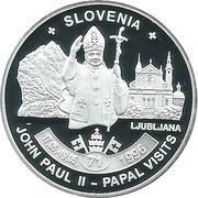 ½ Dollar - Elizabeth II (Pope John Paul II in Slovenia) – reverse