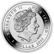 1 Dollar - Elizabeth II (150 years of the Suez Canal) – obverse