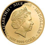 100 Dollars - Elizabeth II (Queen Elizabeth II Blue Sapphire Jubilee: Coronation 65th Anniversary) -  obverse