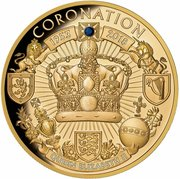 100 Dollars - Elizabeth II (Queen Elizabeth II Blue Sapphire Jubilee: Coronation 65th Anniversary) -  reverse