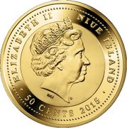 50 Cents - Elizabeth II (Centaurus A) – obverse
