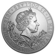 25 Dollars - Elizabeth II (Czech Lion) – obverse