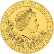 8000 Dollars - Elizabeth II (Czech Lion) – obverse