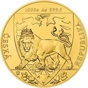 8000 Dollars - Elizabeth II (Czech Lion) -  reverse