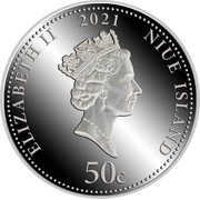 50 Cents - Elizabeth II (Year of the Ox) – obverse