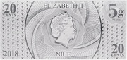 20 Cents - Elizabeth II (Year of the Dog) – obverse