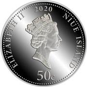 50 Cents - Elizabeth II (Hunting) – obverse