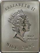½ Dollar - Elizabeth II (John Paul II) – obverse