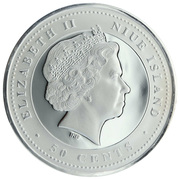 50 Cents - Elizabeth II (Jumping) – obverse
