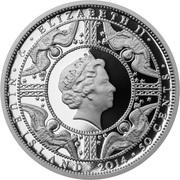 50 Cents - Elizabeth II (Charlemagne) – obverse