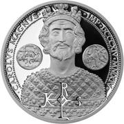50 Cents - Elizabeth II (Charlemagne) – reverse