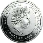 1 Dollar - Elizabeth II (German Shepherd Dog) -  obverse